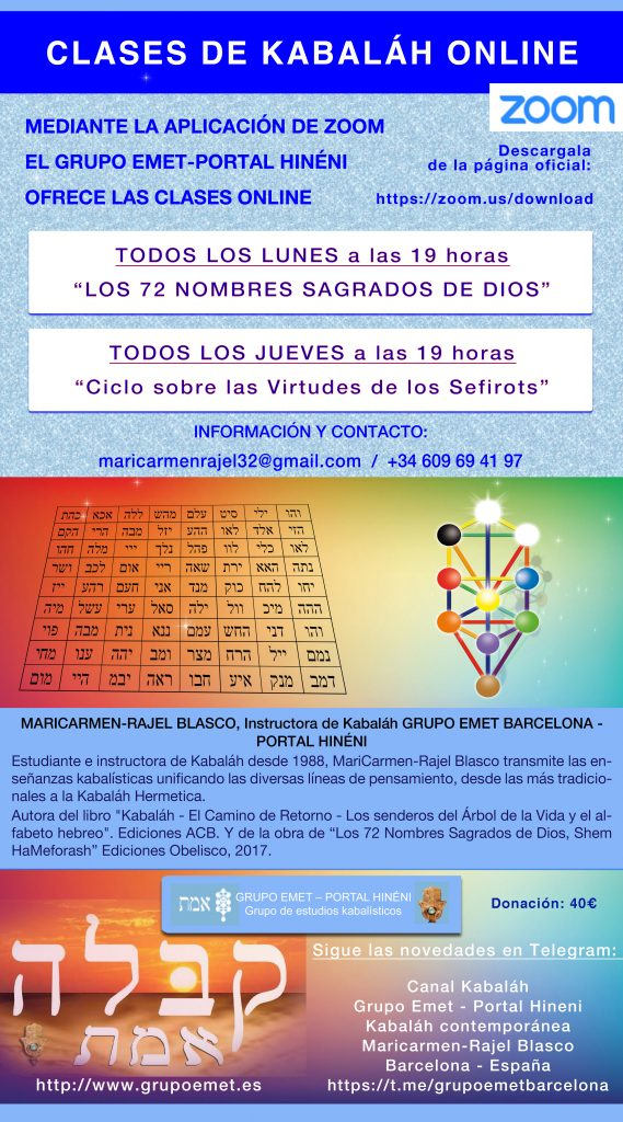 Clases Online de Kabaláh Grupo Emet Barcelona
