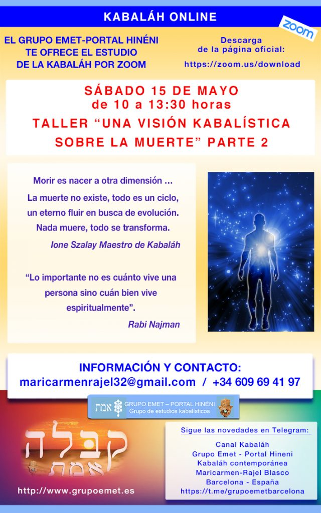 TALLER 1 ONLINE LA MUERTE MAYOPARTE 2 2021